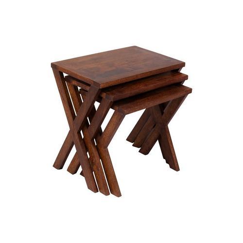 X-Table Chestnut Nesting Tables, 6255-N