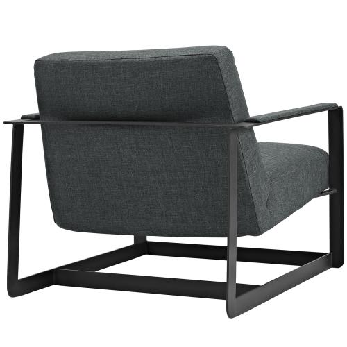 Modway - Seg Upholstered Fabric Accent Chair in Gray