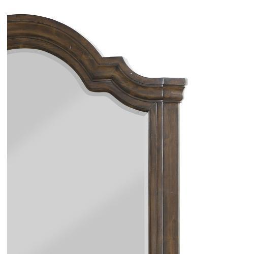 Emerald Home B553-24 Knoll Hill Mirror, Walnut Brown