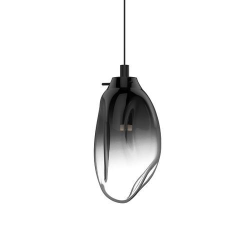 Sonneman - A Way of Light - Liquid LED Pendant [Size=1-Light Standard, Color/Finish=Satin Black w/Smoke Fade Glass, Shape=Standard]