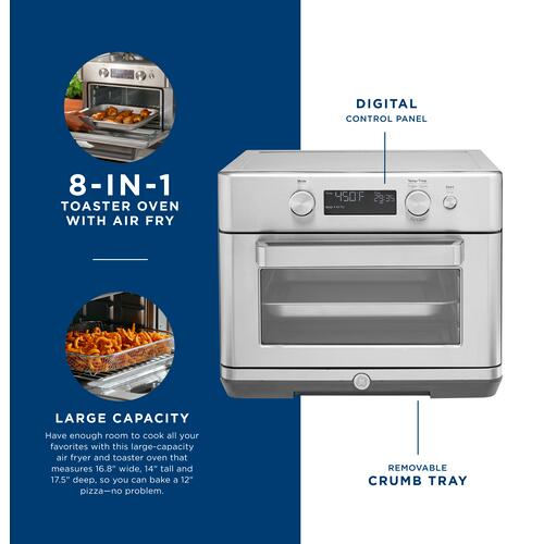 GE Appliances - GE Digital Air Fry 8-in-1 Toaster Oven
