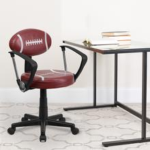 View Product - Football Swivel Task Office Chair with Arms