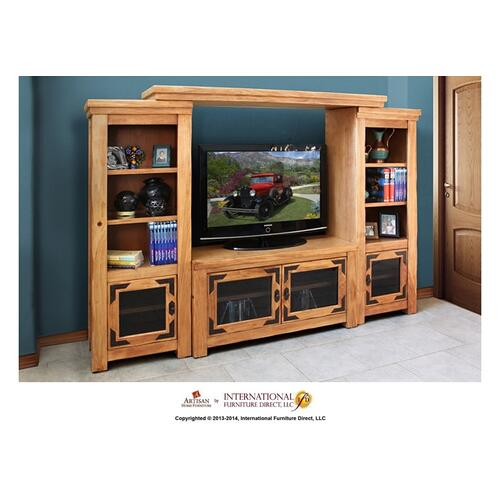 "50"" TV Stand w/2 glass doors"