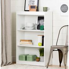 Axess - 3-Shelf Bookcase, Pure White