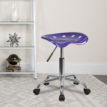 View Product - Vibrant Violet Tractor Seat and Chrome Stool