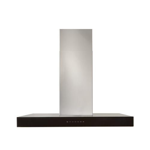 BEST Range Hoods - 36-inch 650 Max Blower CFM Stainless Steel Chimney Range Hood with PURLED™ Light System and Black Glass (WCB3 Series)