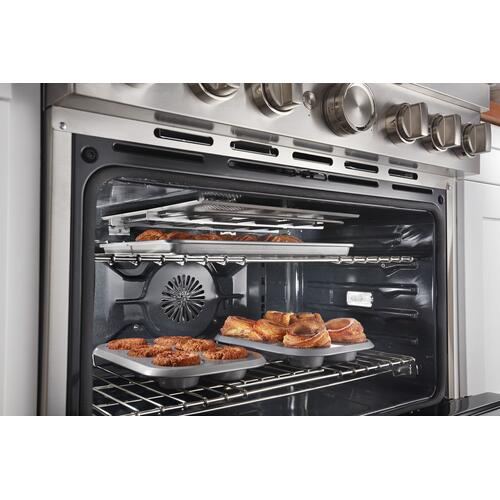 KitchenAid - KitchenAid® 36'' Smart Commercial-Style Dual Fuel Range with 6 Burners - Milkshake