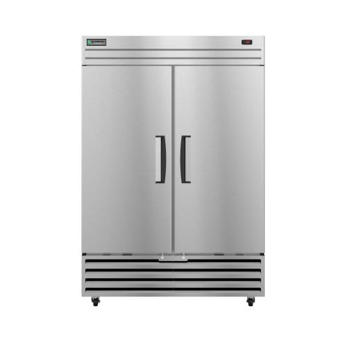 EF2A-FS, Freezer, Two Section Upright, Full Stainless Doors with Lock