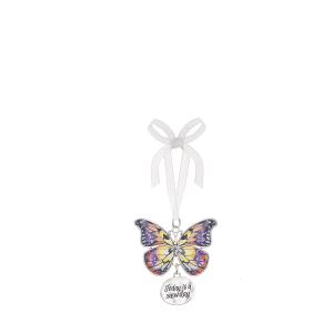 Blissful Journey Butterfly Ornament - Today is a NEW day