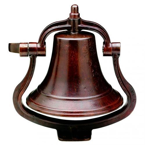 Rocky Mountain Hardware - Large Bell - B12 Silicon Bronze Dark