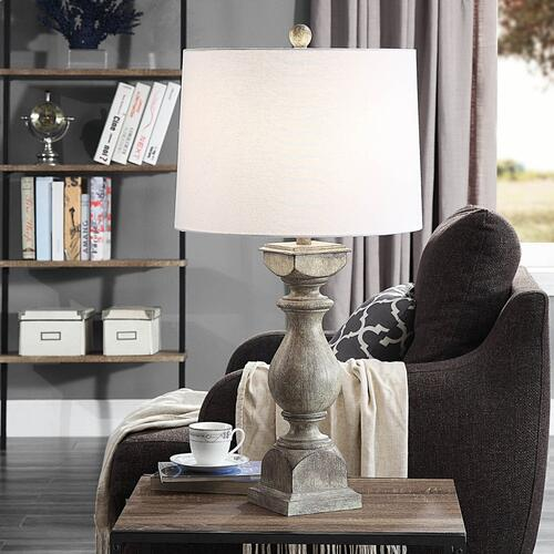 Grayson Gray  Traditional Table Lamp  150W  3-Way  Hardback Shade