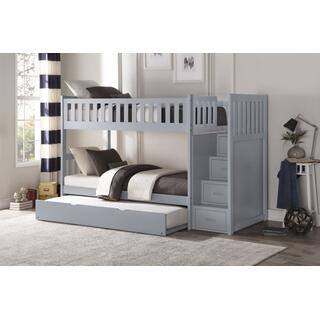 Orion Bunk Bed with Reversible Step Storage and Twin Trundle