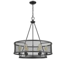 Vivio- Elza 6-Light Cage Pendant- Matte Black Finish