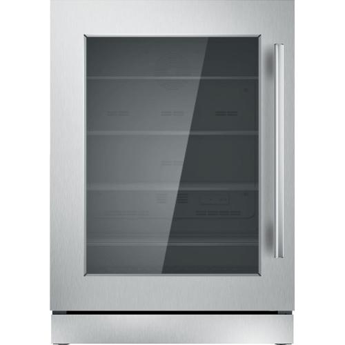 Freedom® Glass Door Refrigeration 24'' Professional Stainless steel T24UR910LS