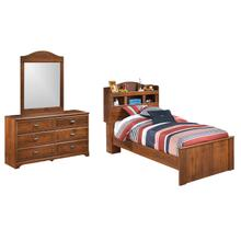 Twin Bookcase Bed With Mirrored Dresser