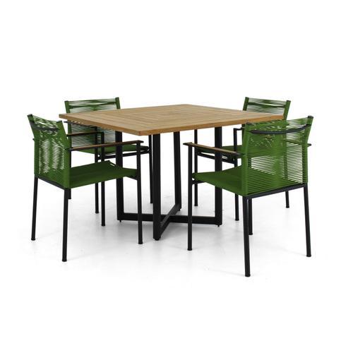 "JAKARTA 43"" Square Teak Top Dining Table"