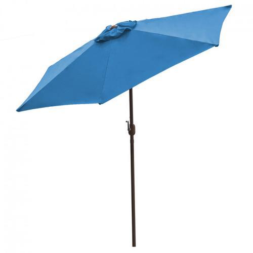 Panama Jack Blue 9 Ft Alum Patio Umbrella W/Crank