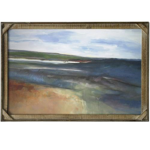Style Craft - OPEN VIEW  24in X 36in  Made in the USA  Textured Framed Print