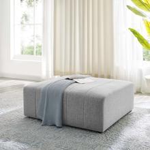 Bartlett Upholstered Fabric Ottoman in Light Gray