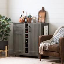Vietti - Bar Cabinet and Bottle Storage, Gray Maple
