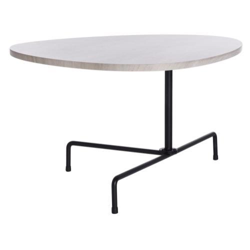 Safavieh - Berlin Tripod Coffee Table - Light Grey Oak / Black