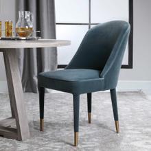 Brie Armless Chair, Blue, 2 Per Box