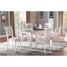 See Details - Dining Table, Faux Marble Top with 6 Side Chairs