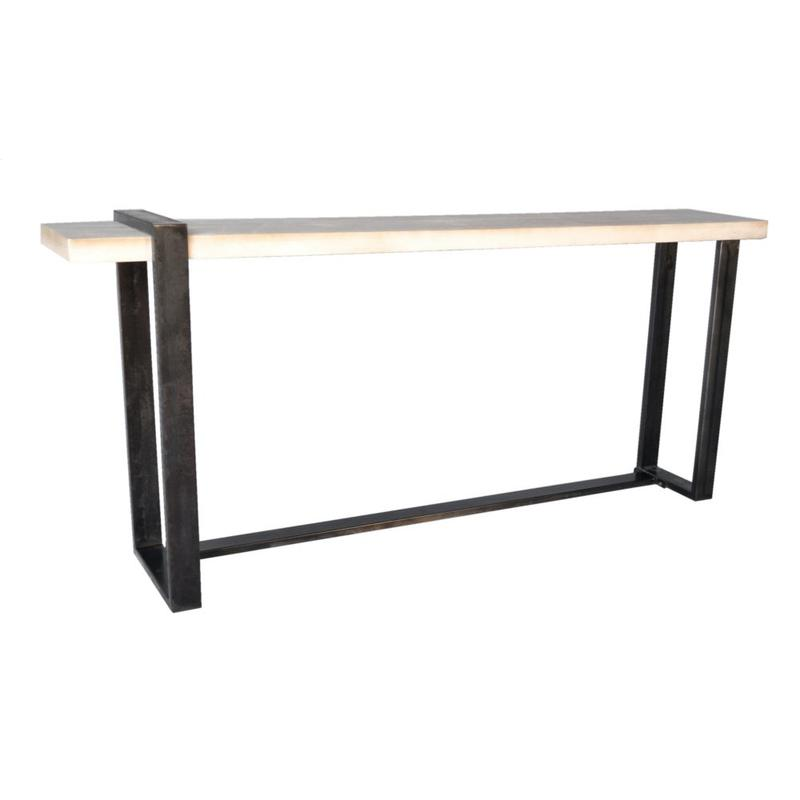 Matthews Metal and Wood Narrow Console Table