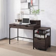 """Contempo 40"""" Desk With 2 Drawers and Shelf Hutch"""