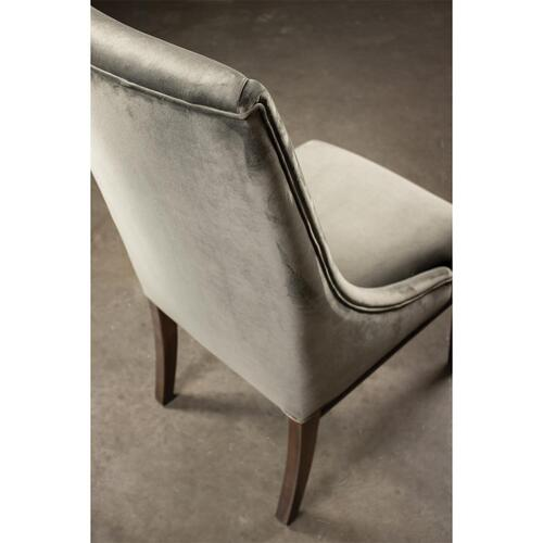 Mix-n-match Chairs - Gray Velvet Side Chair - Hazelnut Finish
