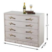 Beach House Antlers Commode