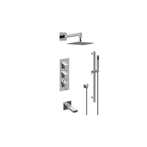 M-Series Thermostatic Shower System - Tub and Shower with Handshower