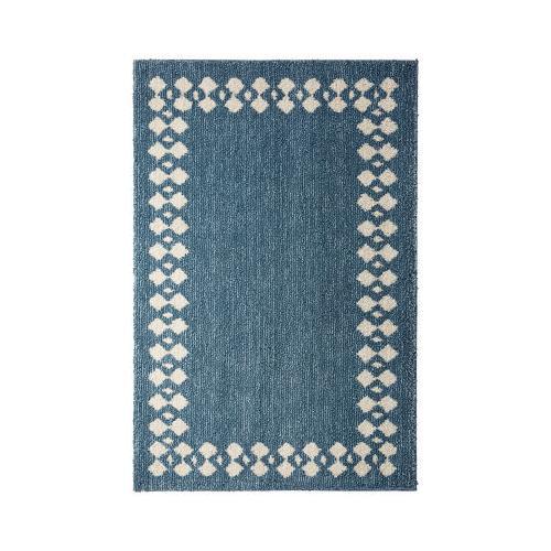 Mohawk - Stacked Border, Blue- Rectangle