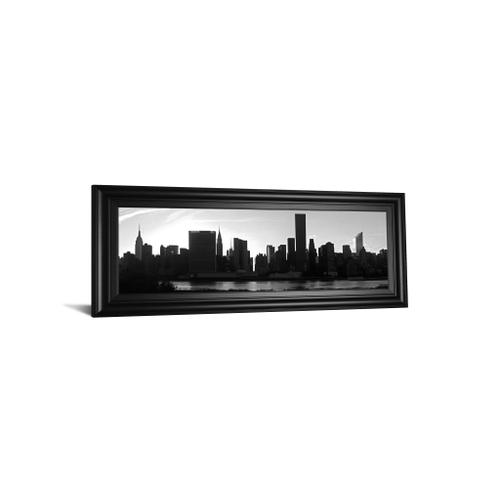 """Classy Art - """"Panorama Of NYC VI"""" By Jeff Pica Framed Print Wall Art"""