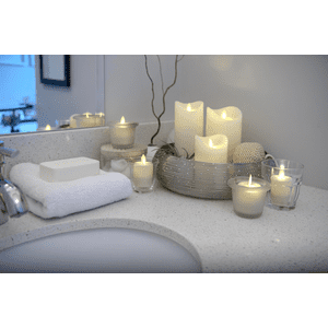Ivory LED Wax Pillar Candle