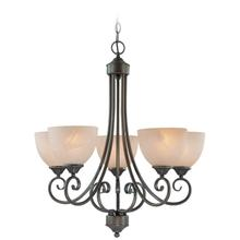 25325-OLB - 5 Light Chandelier