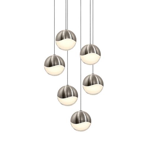 Grapes® 6-Light Round Large LED Pendant
