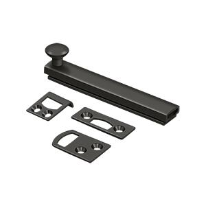 """Deltana - 4"""" Surface Bolt, Concealed Screw, HD - Oil-rubbed Bronze"""