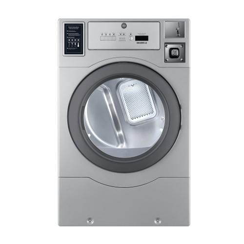 Crossover True Commercial Laundry - 7.0 CF Heavy Duty Top Control Electric Dryer, Coin Option Included/Card Ready, Silver, 27""