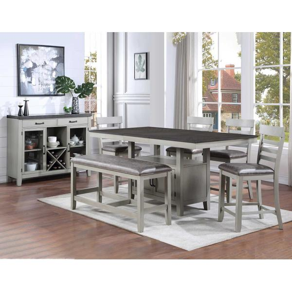 See Details - Hyland 5-Piece Counter Dining Set (Counter Table & 4 Counter Chairs)