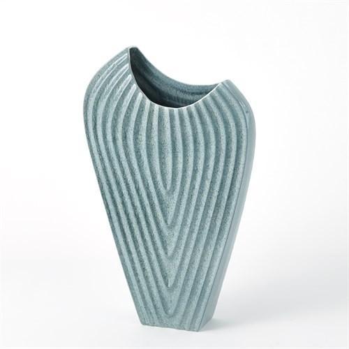 Ripple Vase-Azure-Med