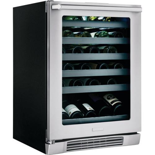 24'' Under-Counter Wine Cooler with Left-Door Swing