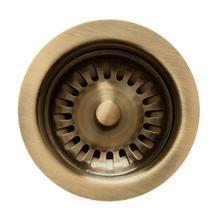 "See Details - 3 1/2"" Basket Strainer - Antique Brass"