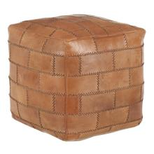 Cobbler Pouf - Brown Leather
