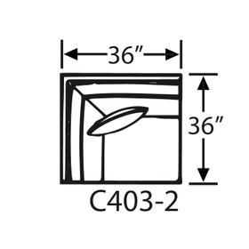 Sectional Component-Corner Chair, Skirted.