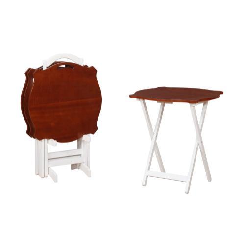 Laptop Folding Tray Tables, Hazelnut and White