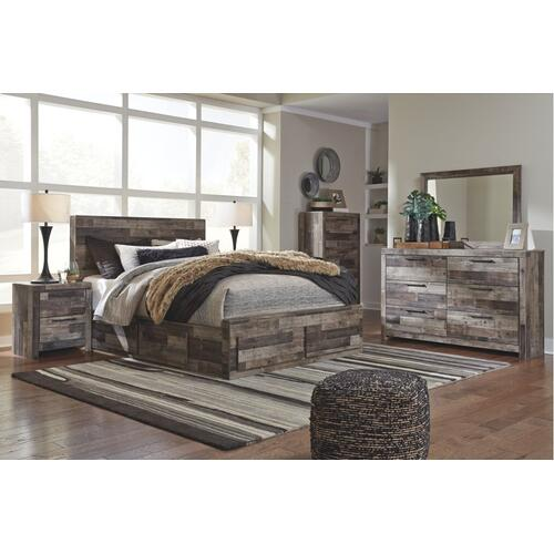 Derekson Queen Panel Bed With 6 Storage Drawers