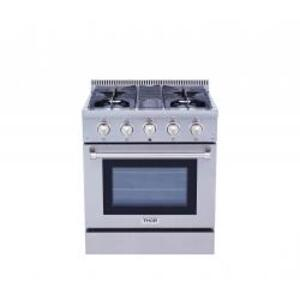 30 Inch Professional Gas Range In Stainless Steel - Display