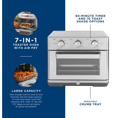 GE Appliances - GE Mechanical Air Fry 7-in-1 Toaster Oven