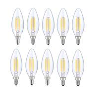 LED E12 CANDELABRA, BLUNT TIP, 5000K, 300 °, CRI80, ES, UL, 6W, 40W EQUIVALENT, 15000HRS, LM480, DIMMABLE, 2 YEARS WARRANTY, INPUT VOLTAGE 120V